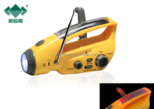 Solar power bank charger, Mini led torch light manufacturers , solar flashlight AM and FM Radio (XLN-288DUS)
