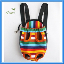Small/Medium/Large Size Colorful Strip pattern Pet Legs Out front Carrier/bag + Cosmos Cable Tie
