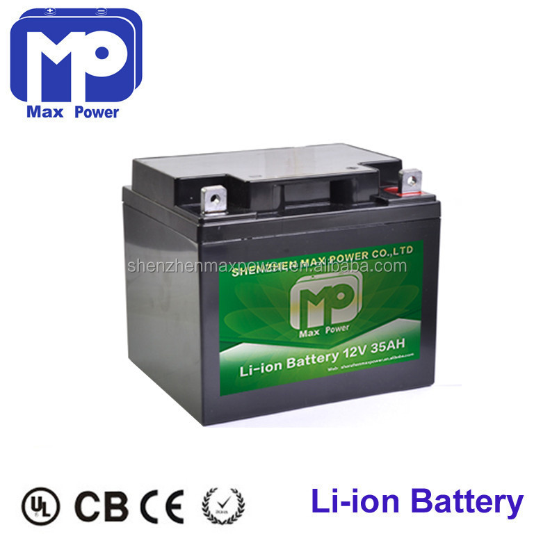 rechargeable 12v 35ah lithium ion battery 18650 li-ion batteries pack for LED panel light/solar power system