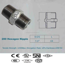 nipple hexagonal/gas nipple fitting/forged high pressure fitting