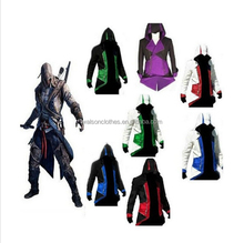 2015 New Assassins Creed 3 III Conner Kenway Hoodie/Coat/Jacket Cosplay Costume Top