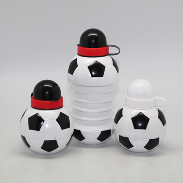 Football shape foldable water bottle,2015 featured product,BPA free