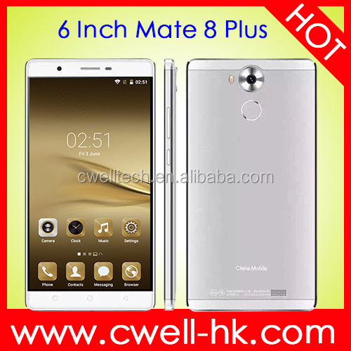 Cheap Unlocked Mobile Phone Mate 8 Plus Android 5.1 MTK6580M Quad Core 6 Inch Smartphone