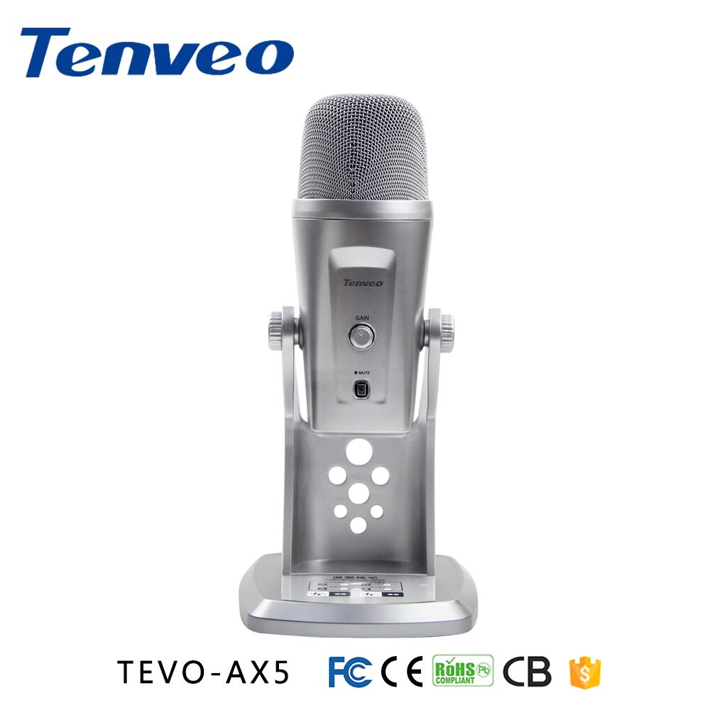 TEVO-AX5 Most advanced and versatile multi-pattern karaoke USB microphone for live , recoardings and broadcasting