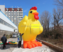 Advertising giant inflatable chicken
