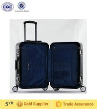fashionable luggage, water proof durable luggage New black color vintage trolley luggage suitcase, aluminum trolley luggage
