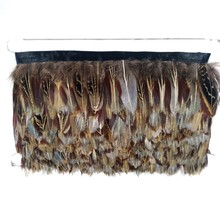 Fashion ringneck pheasant fringe feather trim