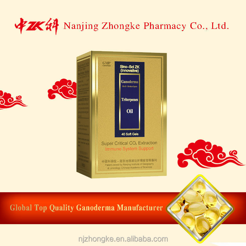 Chinese organic natural duanwood reishi mushroom spore extract oil capsule