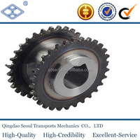 "OEM standard pitch 19.05mm D40 30T duplex roller chain 3/4"" harden teeth industrial idler sprocket"