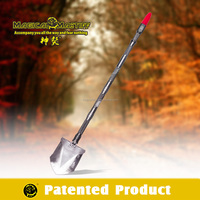 Car Camping Gadget Off Road Safety Gear Multifunction Shovel With LED Car Lights