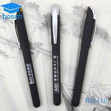 Promotional gifts multi color ink novelty Black gel pen creative pen with logo