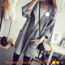 2017 women's sweater , long sleeve acrylic poncho winter cardigan sweater coat for women