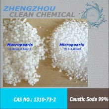 high quality chemical NaOH, sodium hydroxide, caustic soda pearls 99%