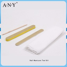 ANY 4PCS Salon Cheap Disposable Nail Manicure Kit Nail File Napkin Nail Care Tool
