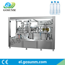 beverage drink mineral water plant machinery 3 in 1 washing filling capping machine