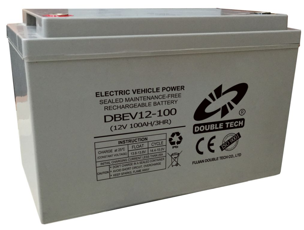 Newest Style Electric Powered Tricycle Battery 100ah Auto Rickshaw for Passenger DBEV12-100