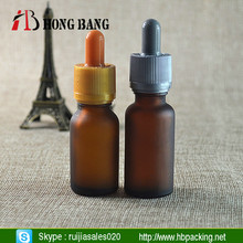 empty olive oil amber umber frosted glass dropper Bottle manufacturer with childproof tamper evident cap