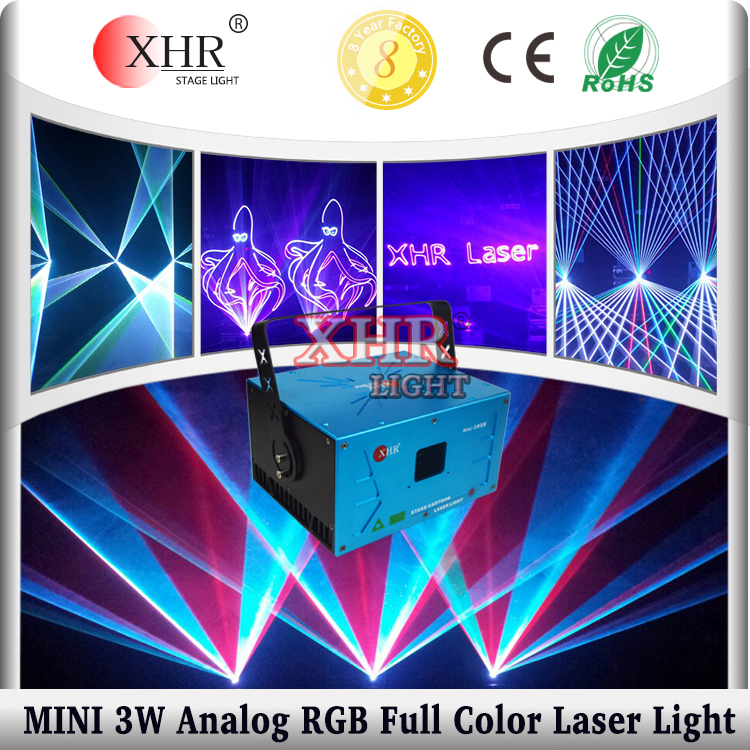 analog 3w concert stage laser lighting Full Color RGB mini laser disco lights for sale