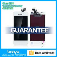 Display touch screen with digitizer assembly lcd backlight for iphone 5