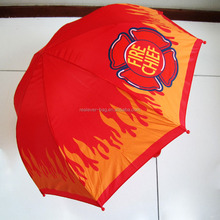 Shangyu wholesale cheap red printed kids umbrella