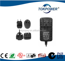 24V/27V Medical AC/DC Adapter with Interchangeable or Wall Mount Type Medical Grade Power Supply