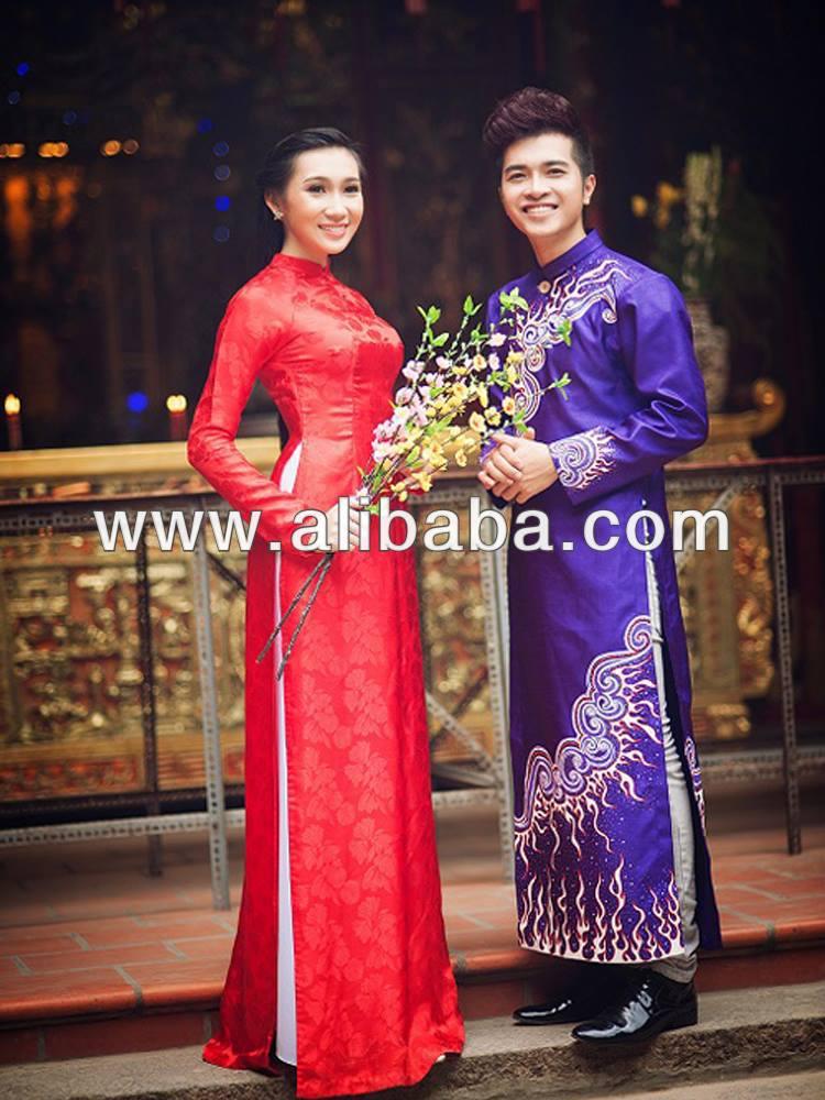 ao dai traditional clothes of Ao dai vinh: vietnamese tailor specialized in ao dai vietnam, ao dai cuoi, wedding bridal dress, chinese cheongsam, ao cuoi, veston.