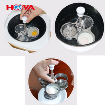 Amazon hot sale stainless steel egg poacher easy clean egg boiler