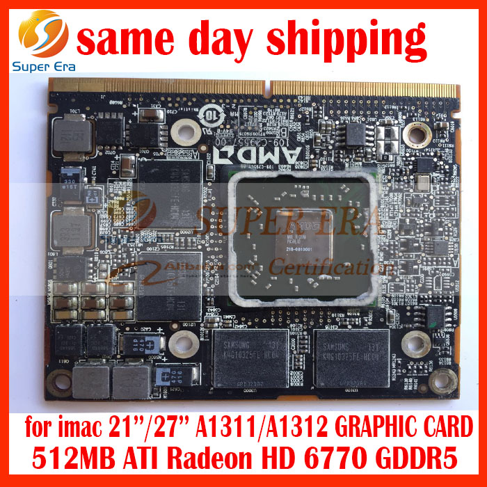 wholesale For iMac A1312 A1311 Radeon HD 6770M 6770 HD6770 HD6770m 512mb 109-C29557-<strong>00</strong> Graphic card VGA Video Card GPU