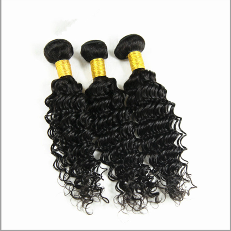 BrazilianVirgin Hair Deep Curly Lace Closure With Bundles Unprocessed Human Hair Weave Extension