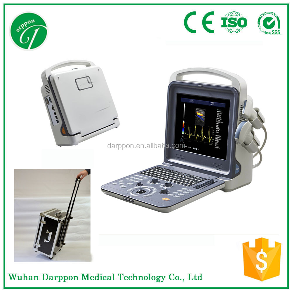 2D 3D Cw Ecografo Portatil 4D Color Doppler Ultrasound for Cardiac