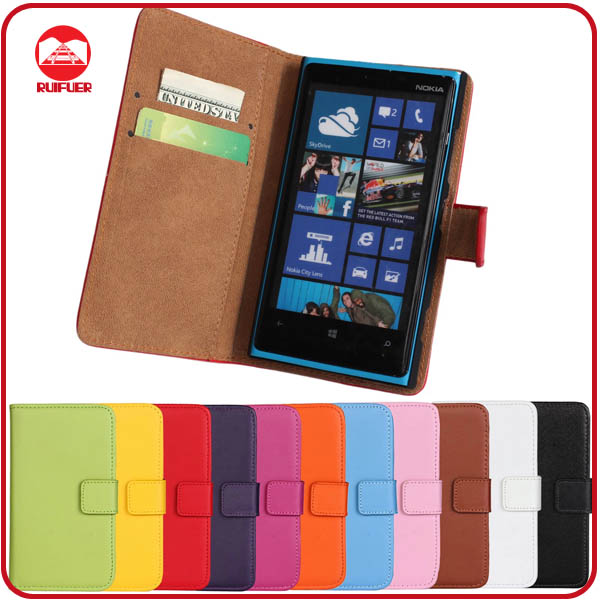 RF Manufacturer Folio Pouch Pocket Magnetic Flip Stand Wallet Leather Case for Nokia Lumia 920 With Card Slots