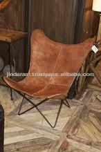 source of leather butterfly chair from India