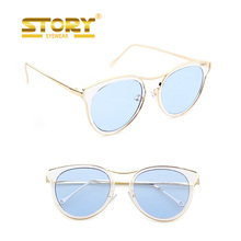 Story tint color ocean lens vintage mad italy rear view mirror sunglasses merry