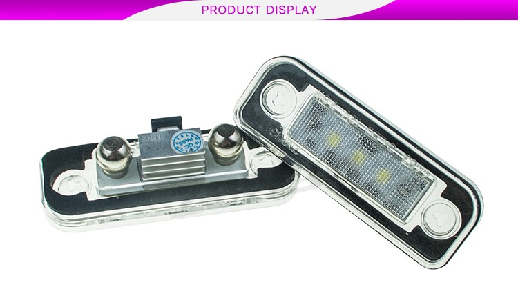 New Lowest factory price 2835SMD 3leds Canbus LED License Plate C Class