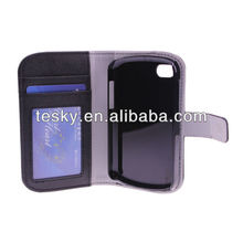 New Case Cover For BBq10, PU wallet case for BlackBerry Q10