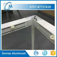 6063 Aluminum powder coating hydraulic table legs