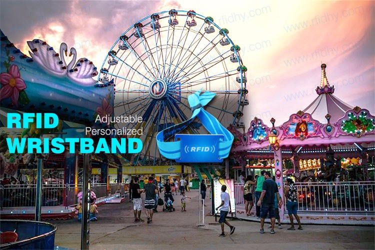 HYWNL01 I Code Sli RFID Fabric Waven Wrist Tag For Theme Park