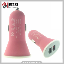 Matte Dual 2 Port USB Car Charger for Apple Iphone 5 iPad 2 iPhone 3G 3GS 4g USB Car Charger USB 5V 2.1A 2100M