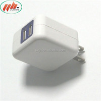 5V2A Dual USB unique designed foldable wall charger universal for cell phone