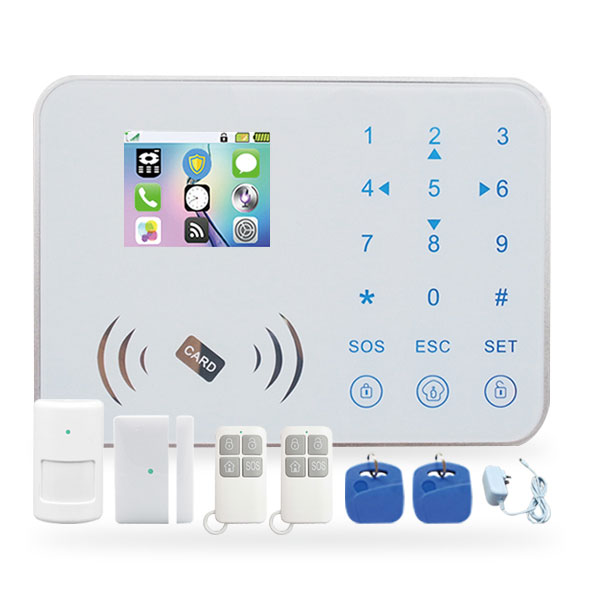 smart home IOS & android phone APP control Wireless TFT touch keypad gsm home security alarm system