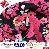 4 way stretch nylon lycra printed fabric for luxurious dresses