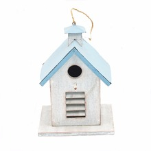 Good sale blue antique vintage bird cage small wooden bird houses
