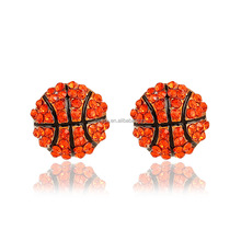 Fashion shiny crystal basketball ball earring wholesale NSER-100e061