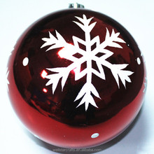 Made in china fashion hand painted christmas snow ball ornaments