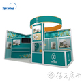 Detian Offer 10*20 portable green booth design exhibition stands