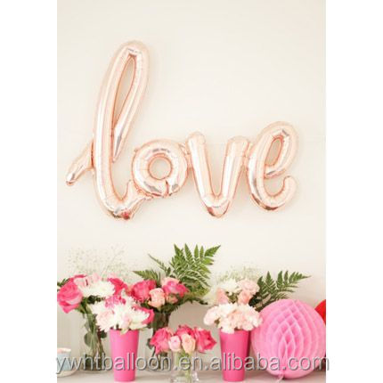 Hot selling108X64CM Gaint Size LOVE Foil balloon Wedding Party Decoration Wholesale Balloon