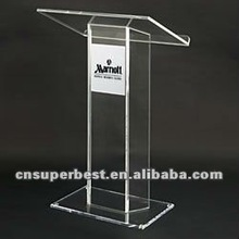 Hot sale clear acrylic lectern in school or public