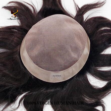 "6 inches brazilian hair piece men toupee size8""X10"" in stock"