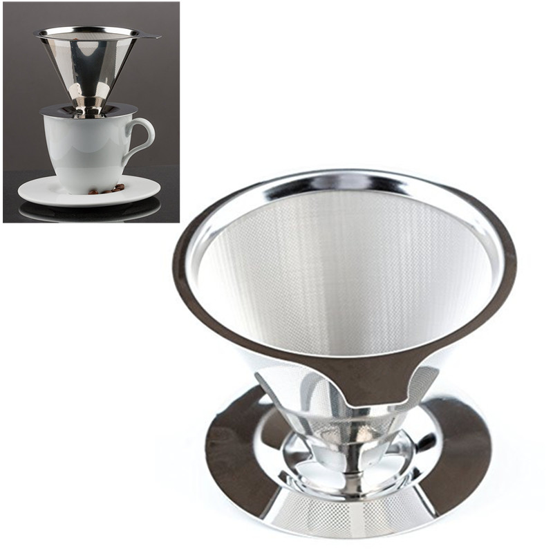 V60 Permanent Paperless Portable Coffee Filter Cone Brewer dripper