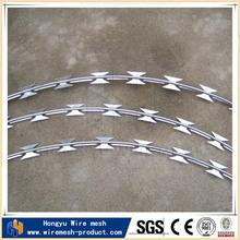 Direct factory galvanzied barbed 15m razor wire